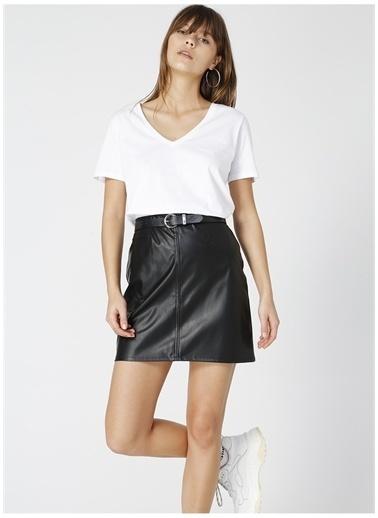 Fabrika Fabrika Teyo Beyaz V Yaka Kadın T-Shirt Beyaz